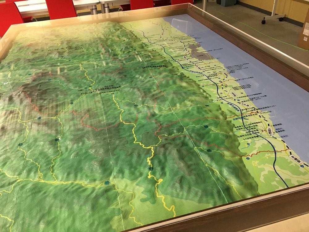 双葉郡立体地図